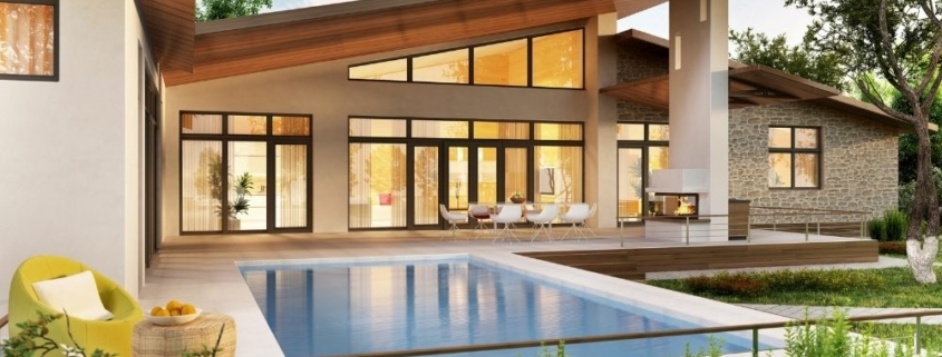 a house with a pool on the front   Feature   The Best Type Of Photos To Use In Your Rental Property Listing